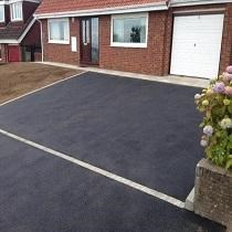 Dropped Kerb and Tarmac Driveway