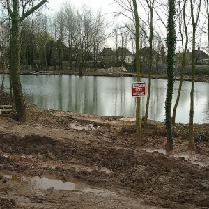 Lliswerry Pond, Dredging, footpaths & Lanscaping